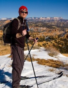 Cross Country Skiing on the Rim of Bryce Canyon