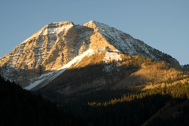 Mount Timpanogos from American Fork Canyon