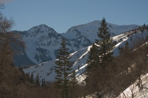 View of American Fork Canyon on the Way to Wasatch State Park