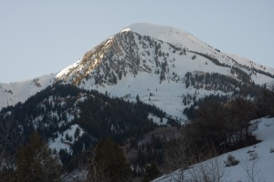 View looking west from Tibble Fork Parking Area