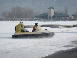 Hovercrafting at the Boat Ramp at the Provo Boat Harbor
